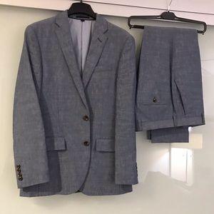 J. Crew Chambray Italian Suit